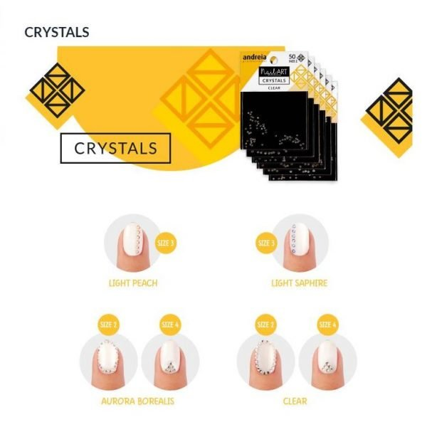 ANDREIA CRYSTALS CLEAR SIZE 4