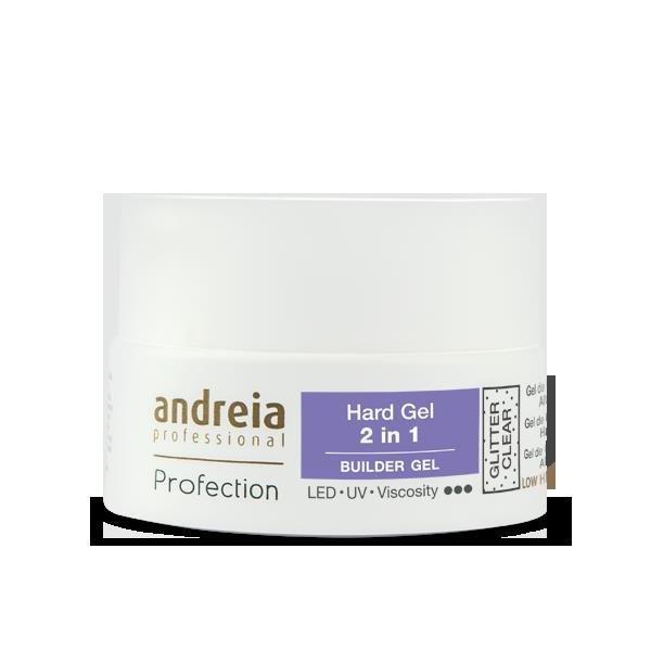 Andreia Builder Gel glitter clear 2 in 1 22 gr