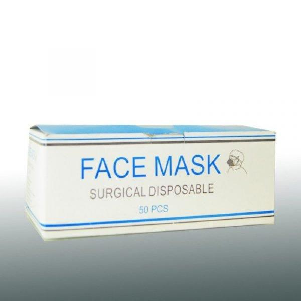 Μάσκα προστασίας ΠΡΑΣΙΝΗ 3ply- (50τμχ)